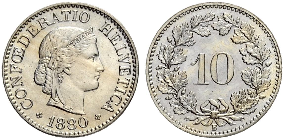 CH 10 Rappen 1880 B