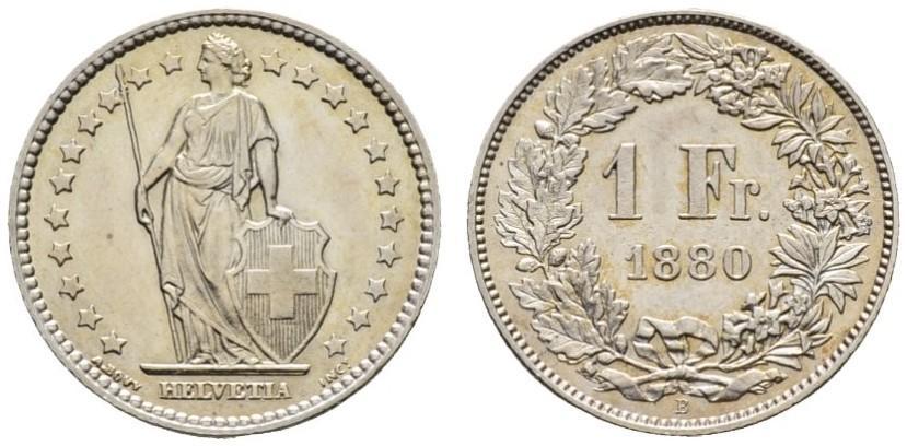 CH 1 Franken 1880 B