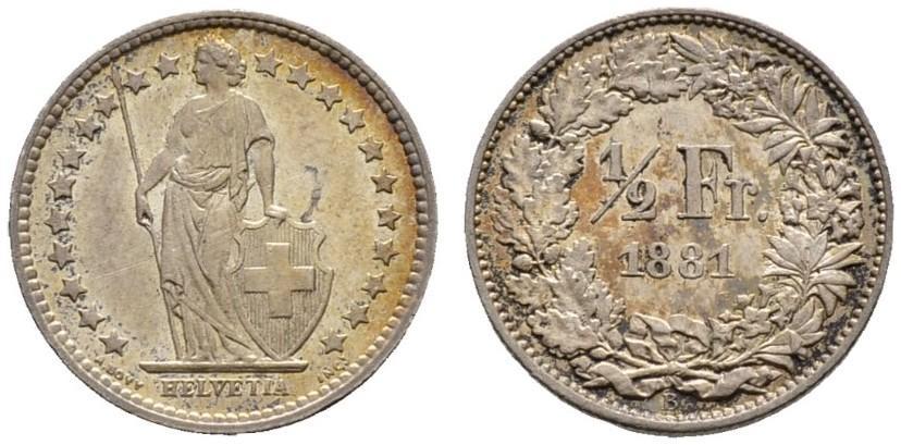 CH 1/2 Franken 1881 B