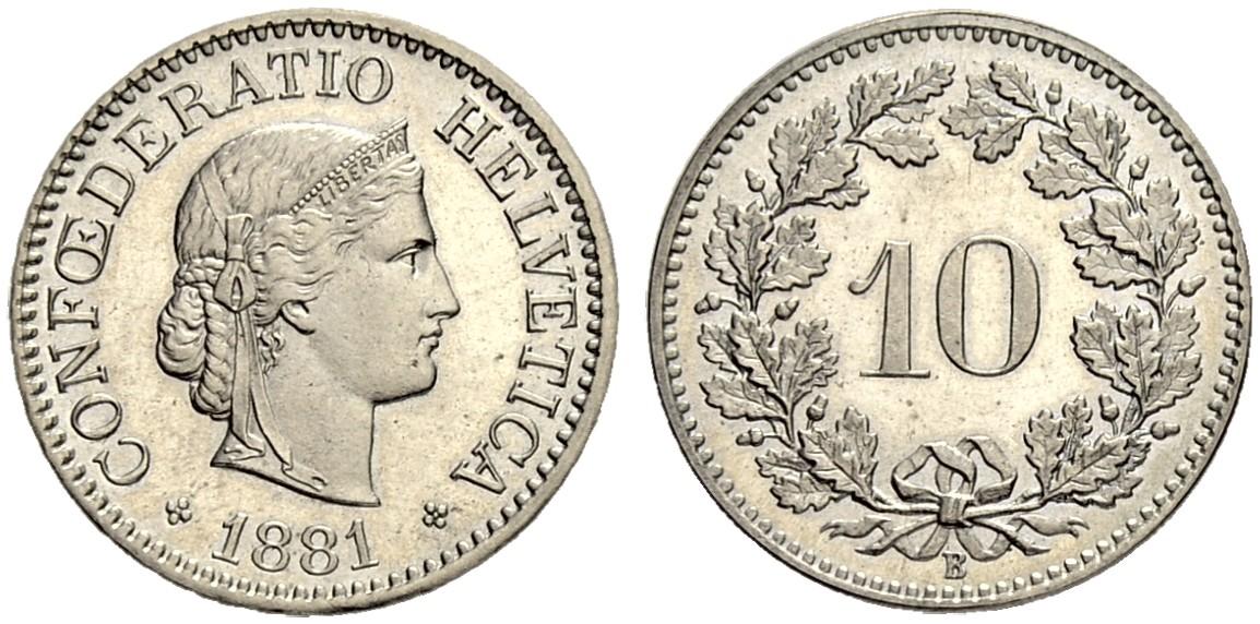 CH 10 Rappen 1881 B