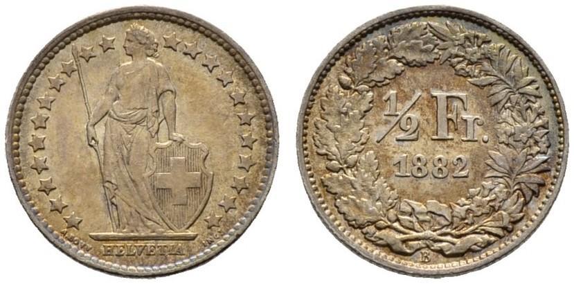CH 1/2 Franken 1882 B