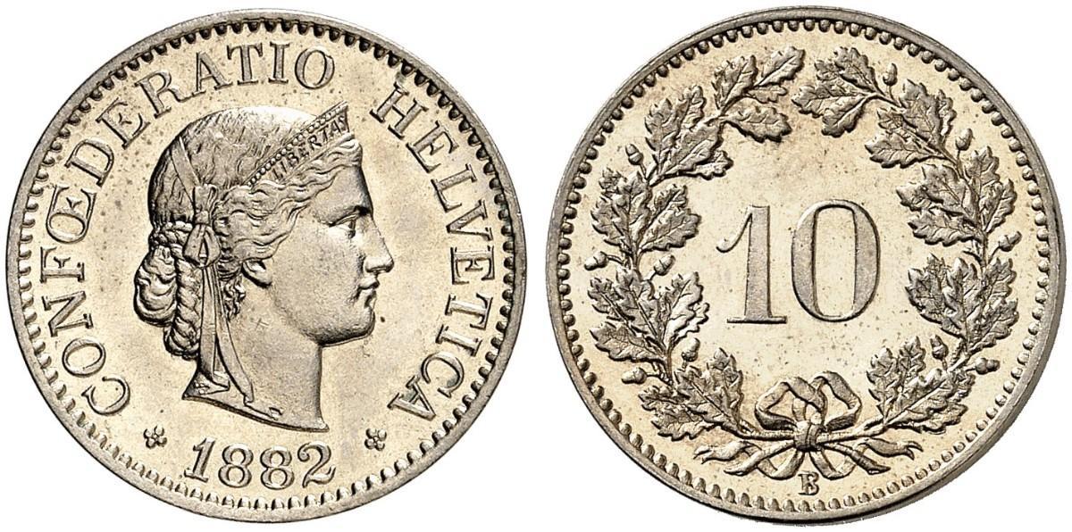 CH 10 Rappen 1882 B