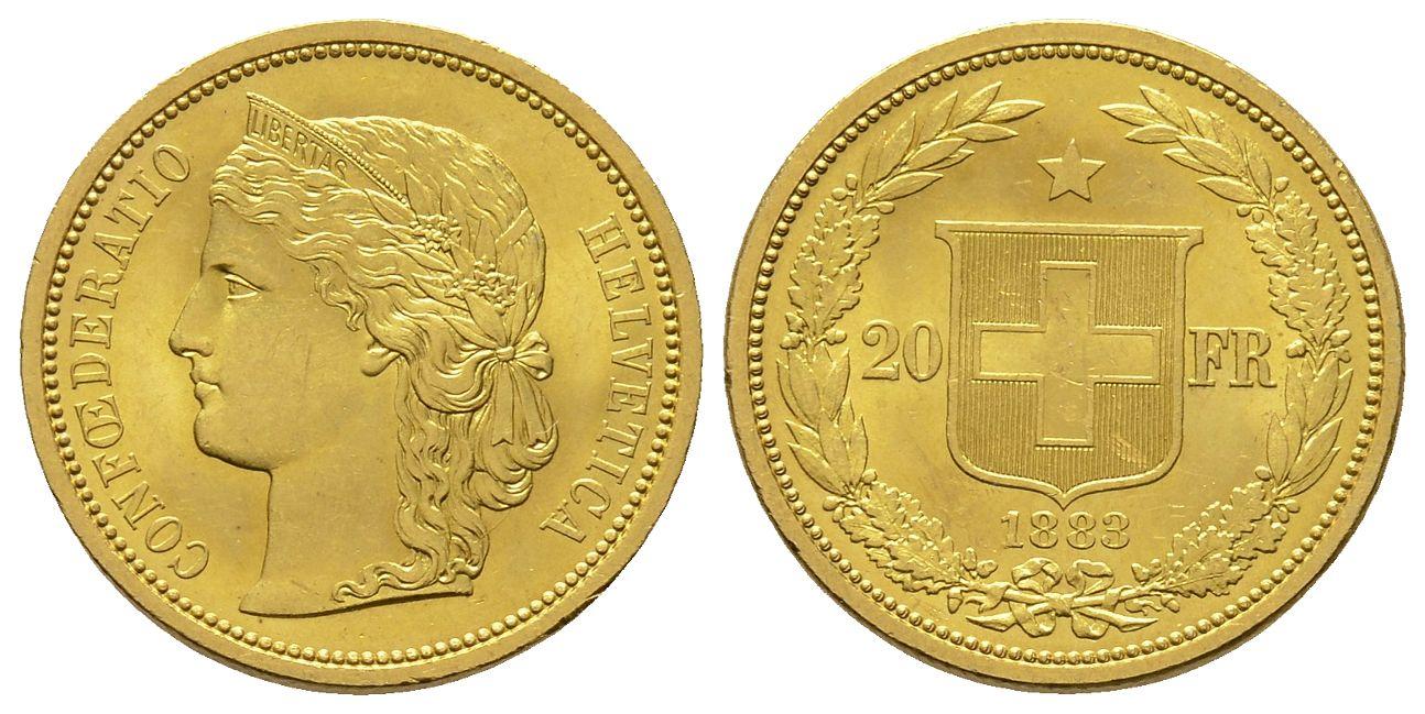 CH 20 Franken 1883