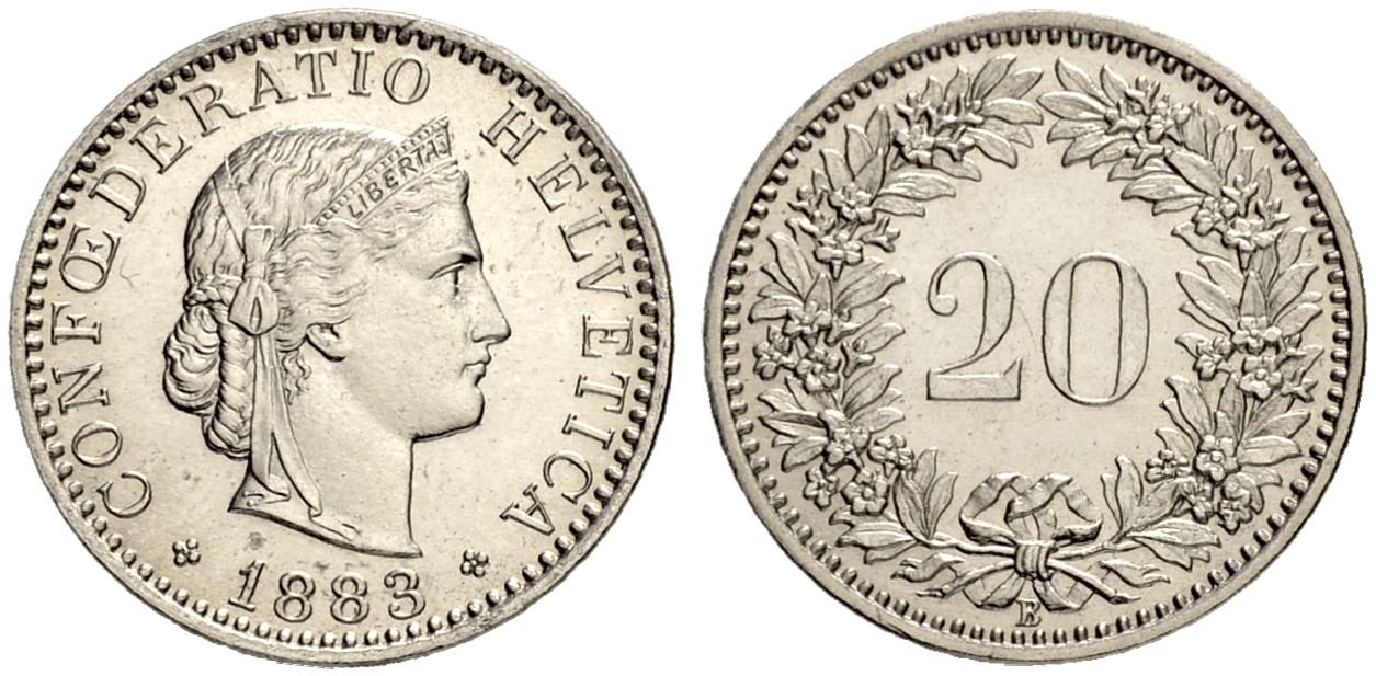 CH 20 Rappen 1883 B