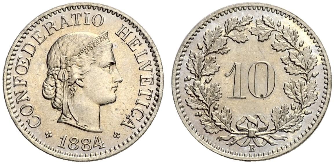 CH 10 Rappen 1884 B