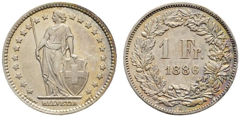 CH 1 Franken 1886 B