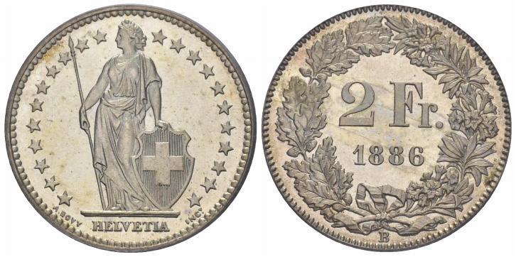CH 2 Franken 1886 B