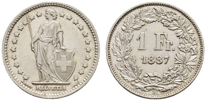 CH 1 Franken 1887 B