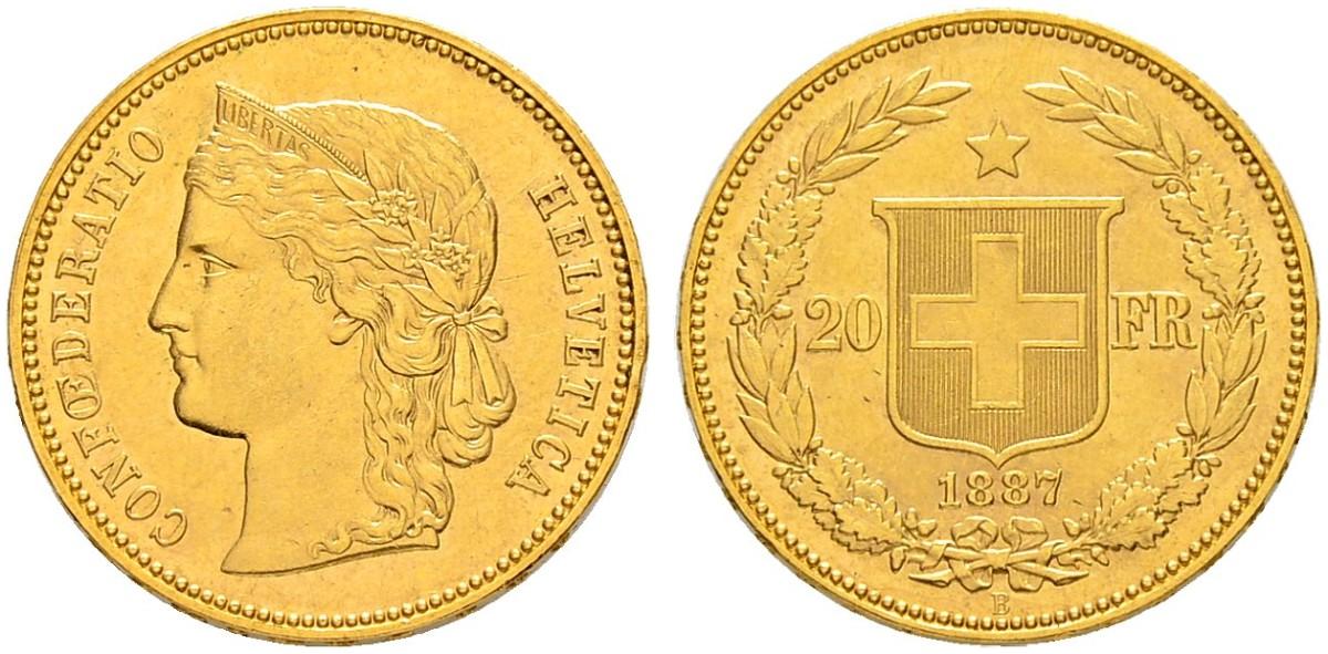CH 20 Franken 1887 B