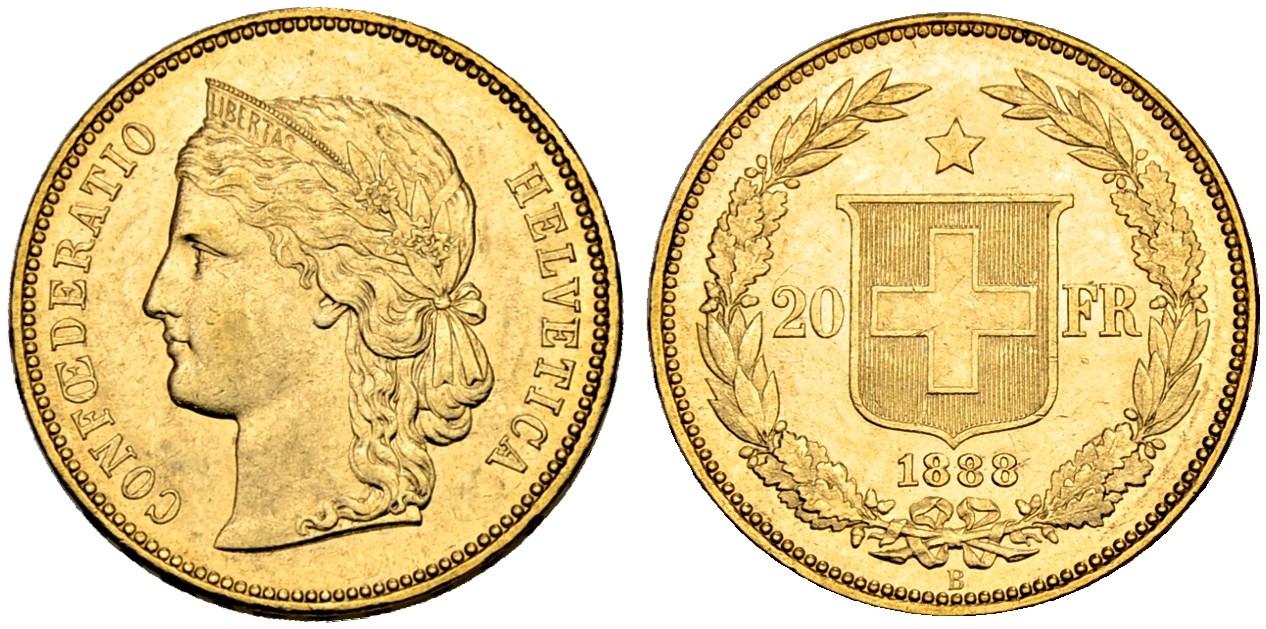 CH 20 Franken 1888 B