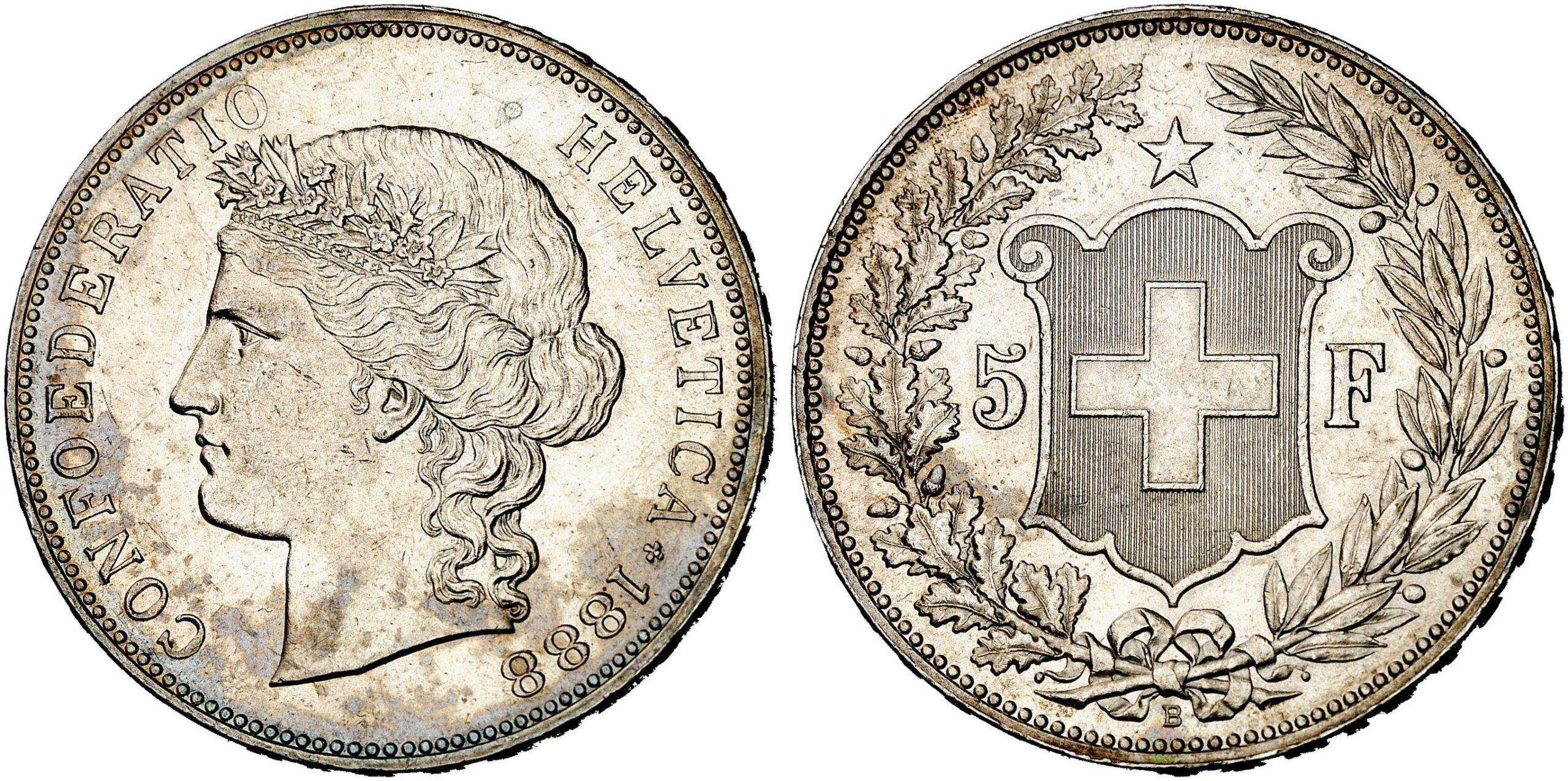 CH 5 Franken 1888 B