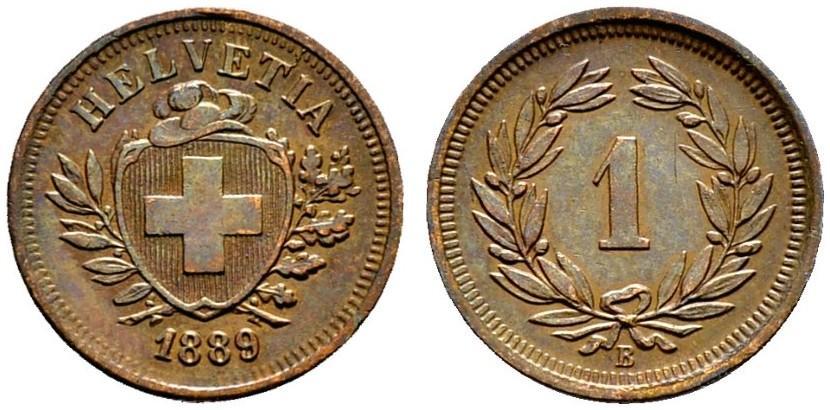 CH 1 Rappen 1889 B
