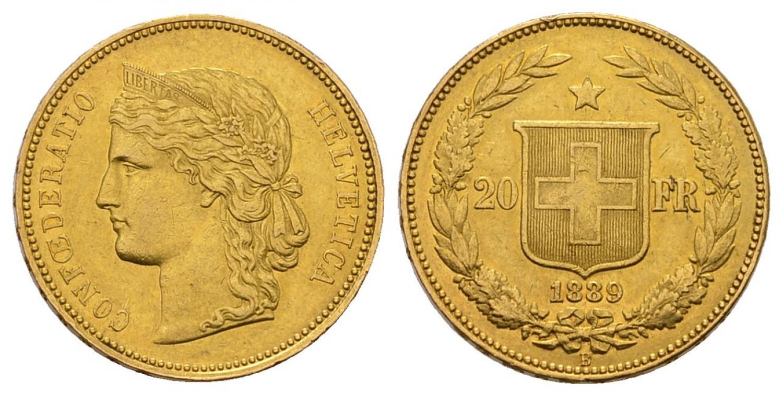 CH 20 Franken 1889 B