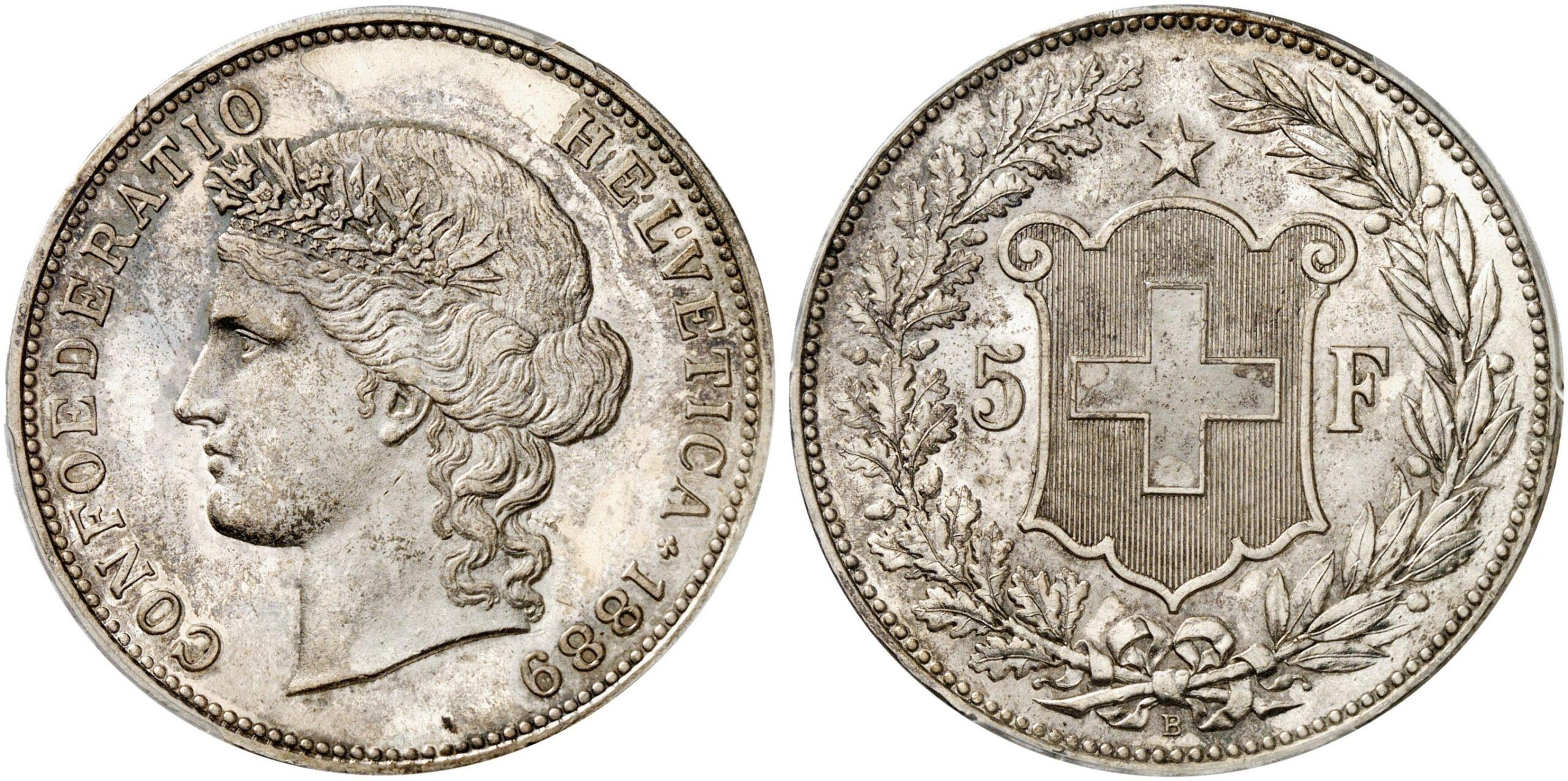 CH 5 Franken 1889 B