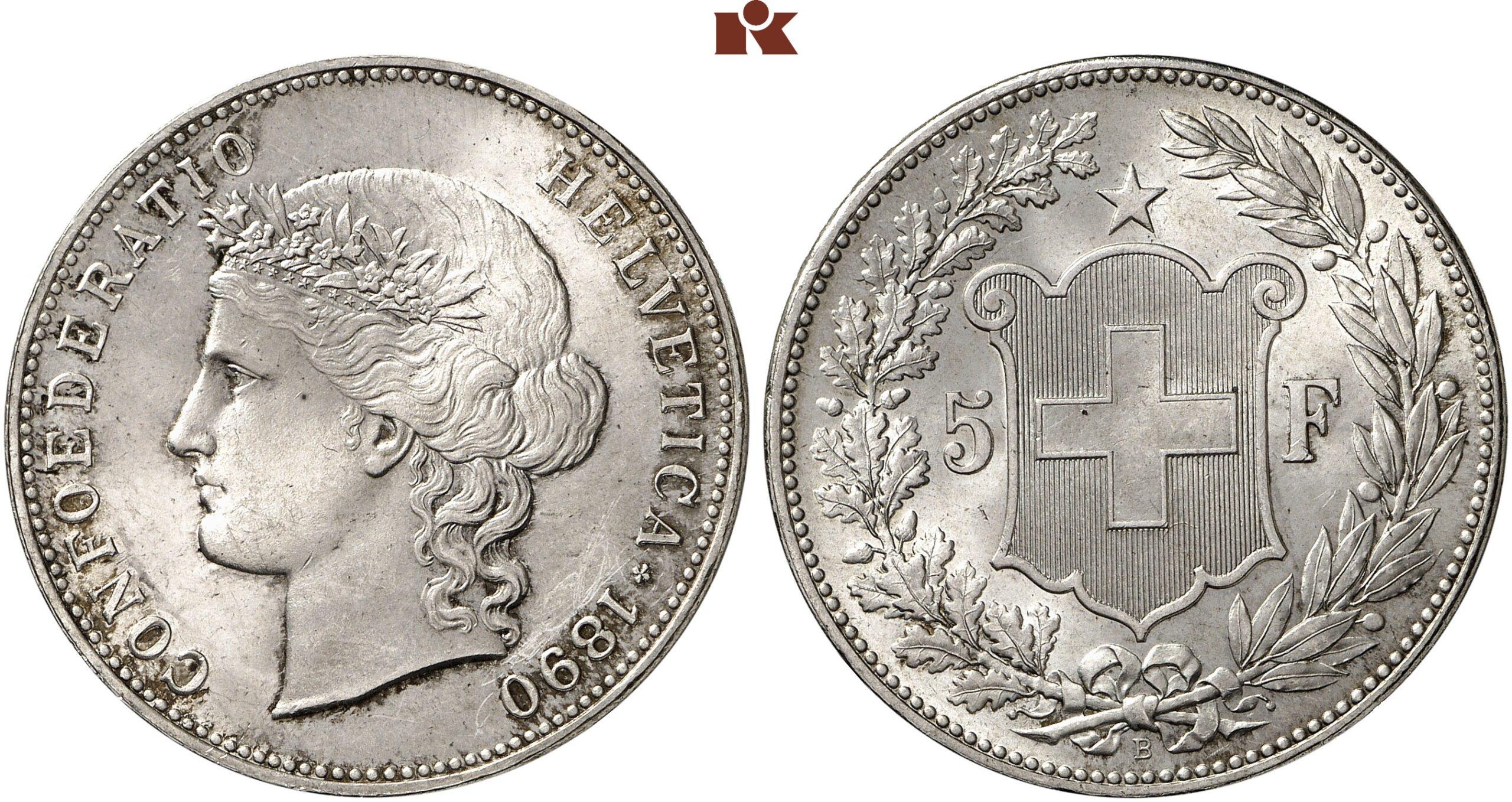 CH 5 Franken 1890 B