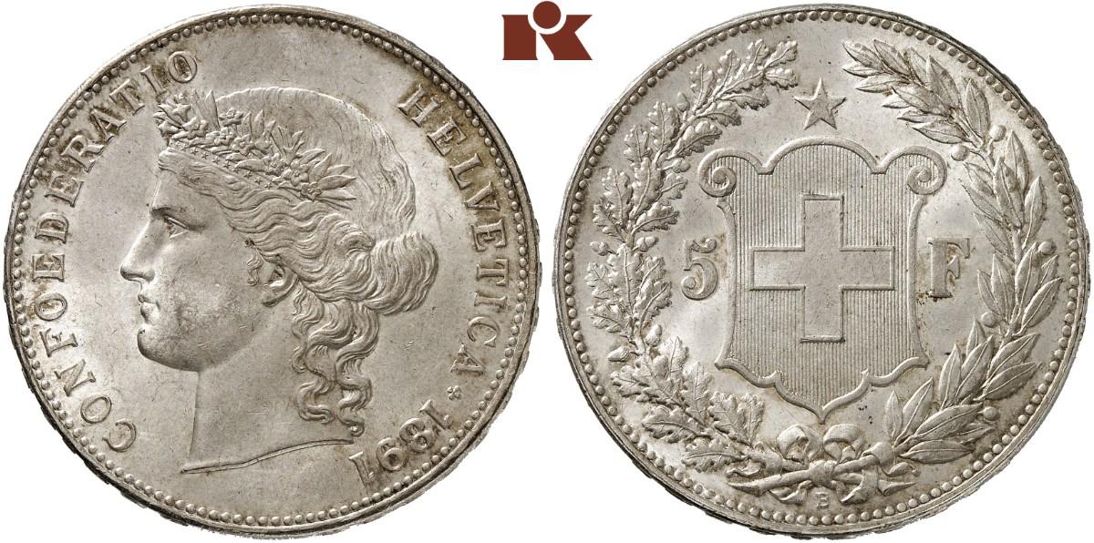 CH 5 Franken 1891 B