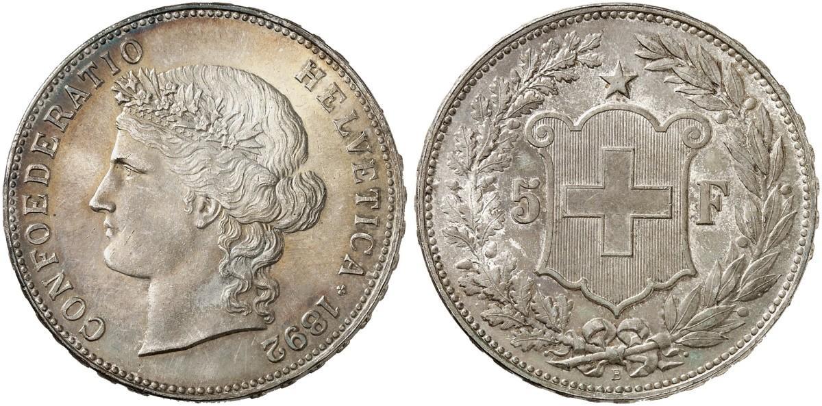 CH 5 Franken 1892 B