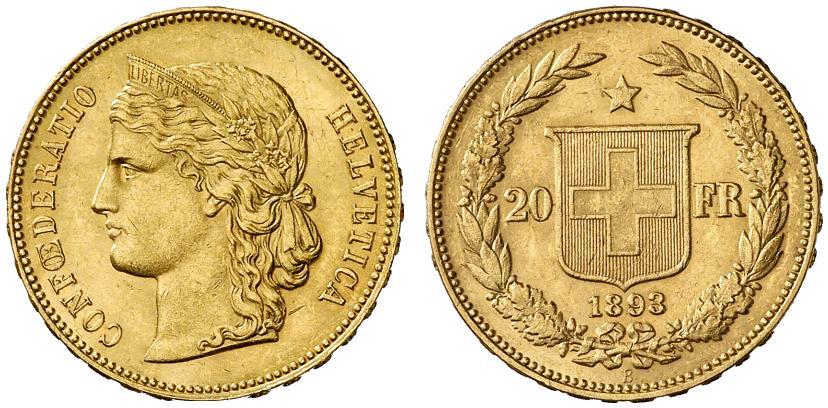 CH 20 Franken 1893 B