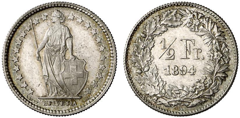 CH 1/2 Franken 1894 A