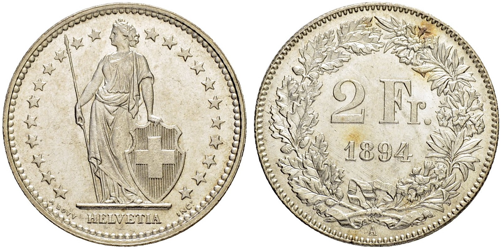 CH 2 Franken 1894 A