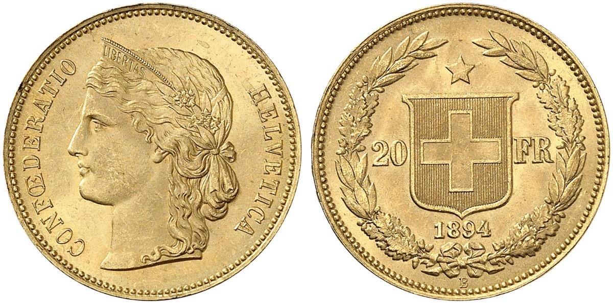 CH 20 Franken 1894 B