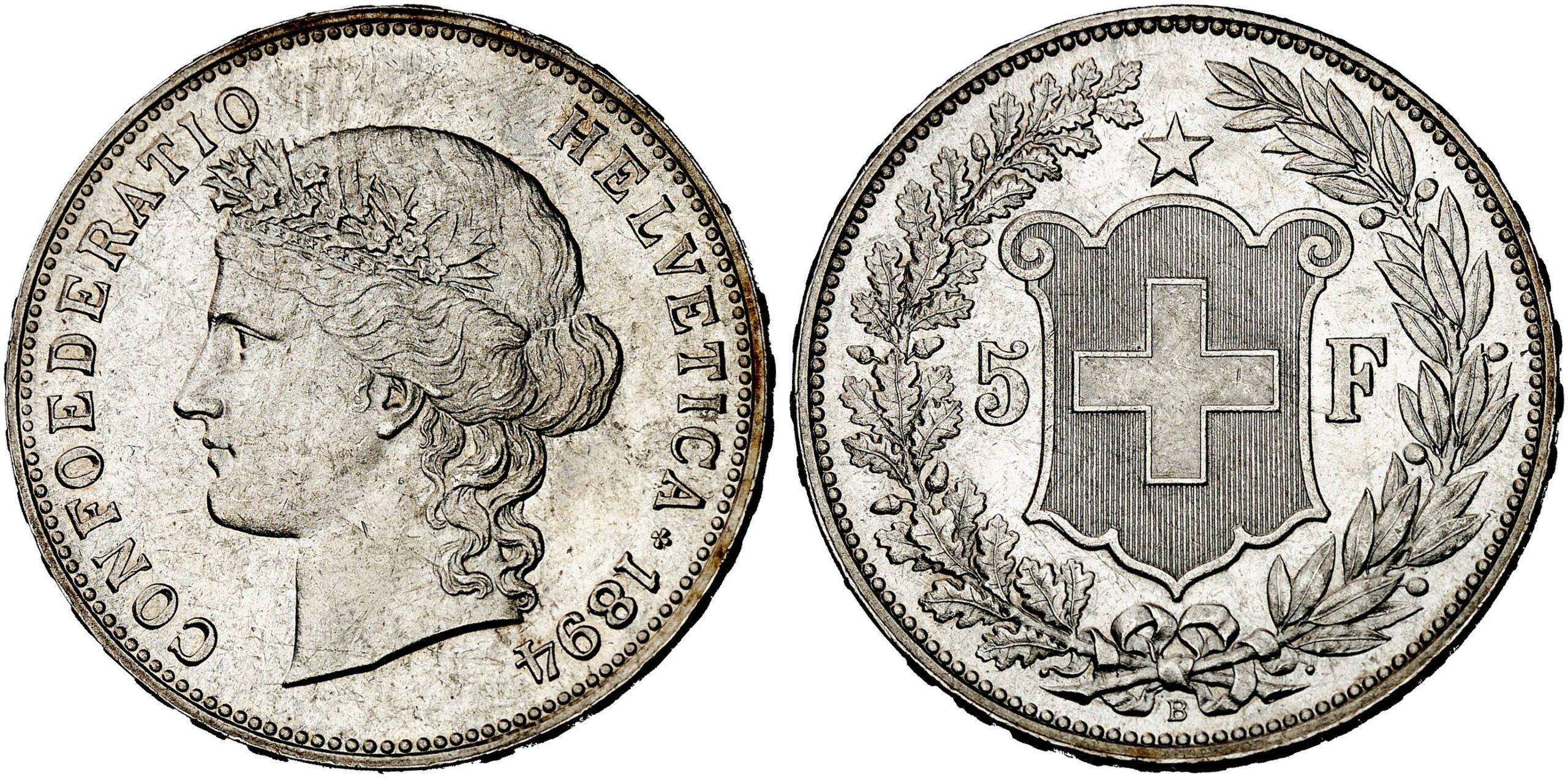 CH 5 Franken 1894 B