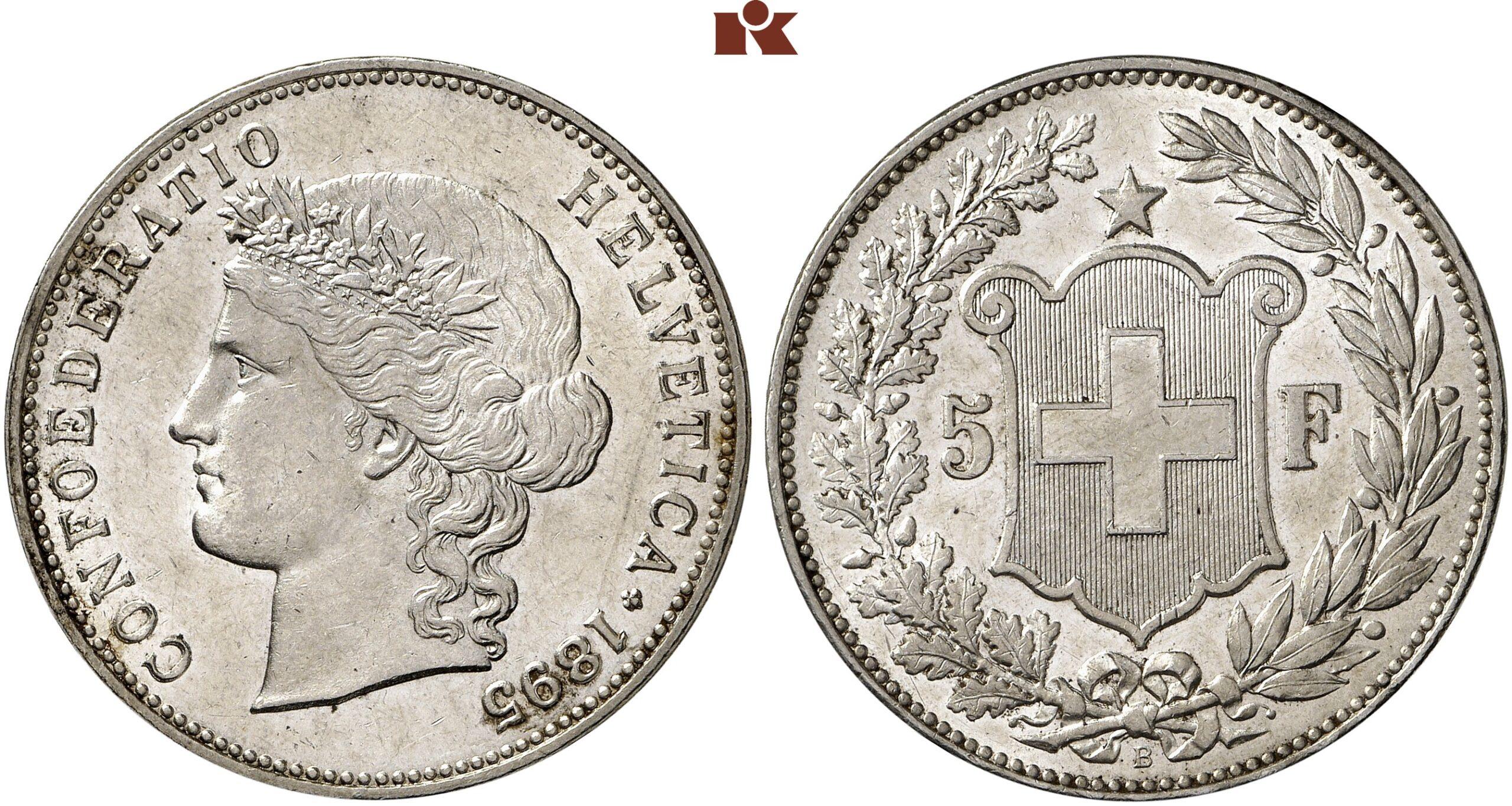 CH 5 Franken 1895 B
