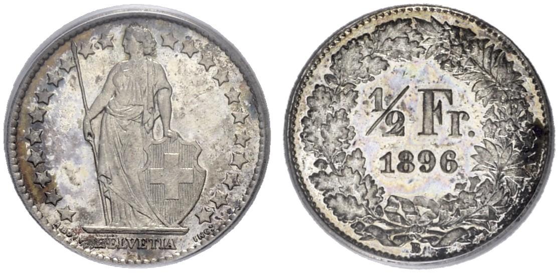 CH 1/2 Franken 1896 B