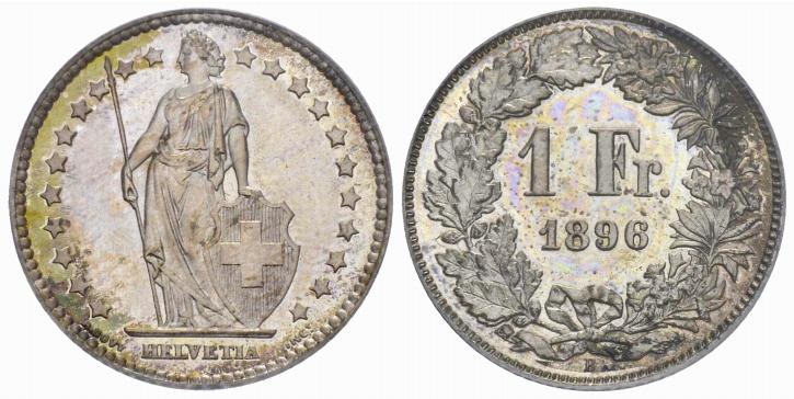 CH 1 Franken 1896 B