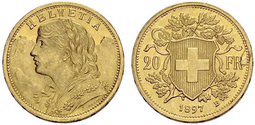 CH 20 Franken 1897 B