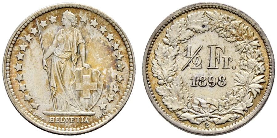 CH 1/2 Franken 1898 B