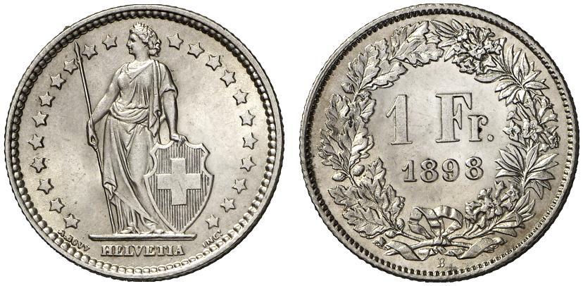 CH 1 Franken 1898 B