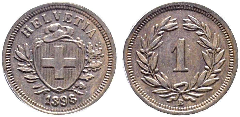 CH 1 Rappen 1898 B