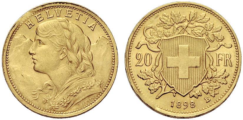 CH 20 Franken 1898 B