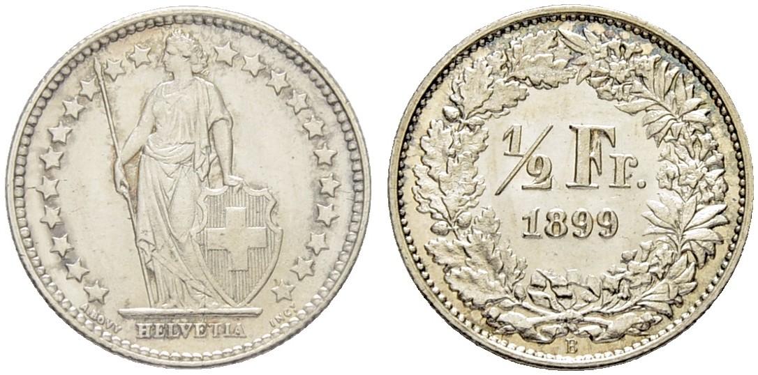 CH 1/2 Franken 1899 B