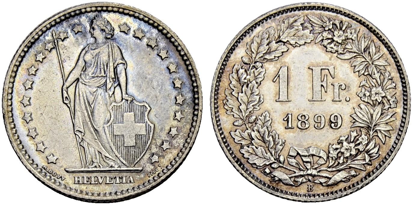 CH 1 Franken 1899 B