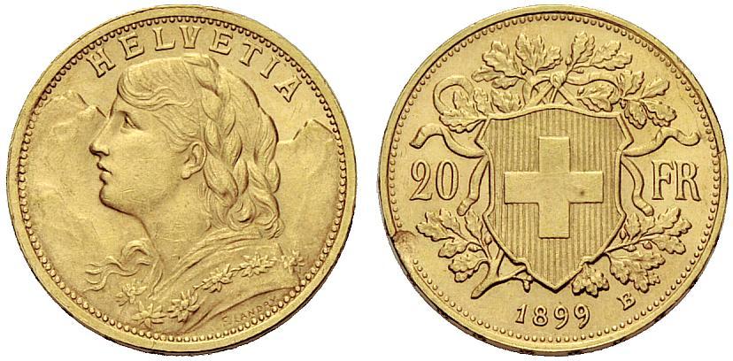CH 20 Franken 1899 B