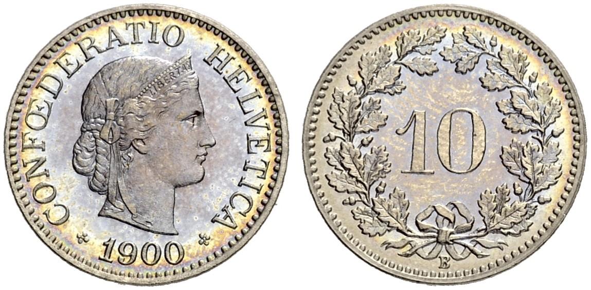 CH 10 Rappen 1900 B