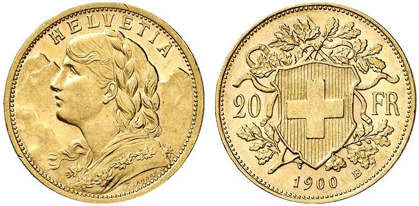 CH 20 Franken 1900 B
