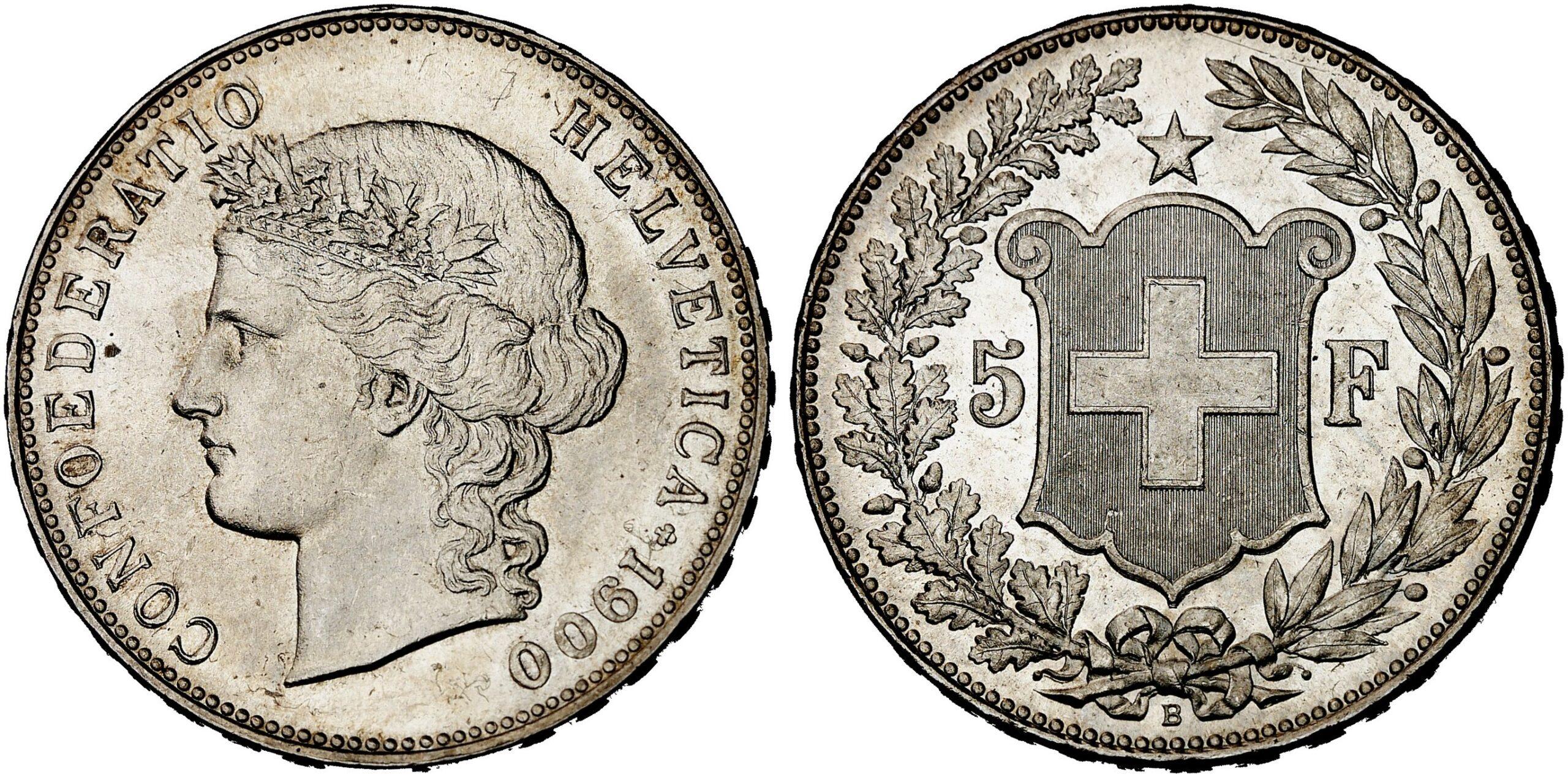 CH 5 Franken 1900 B