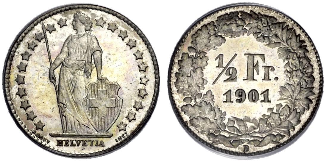 CH 1/2 Franken 1901 B