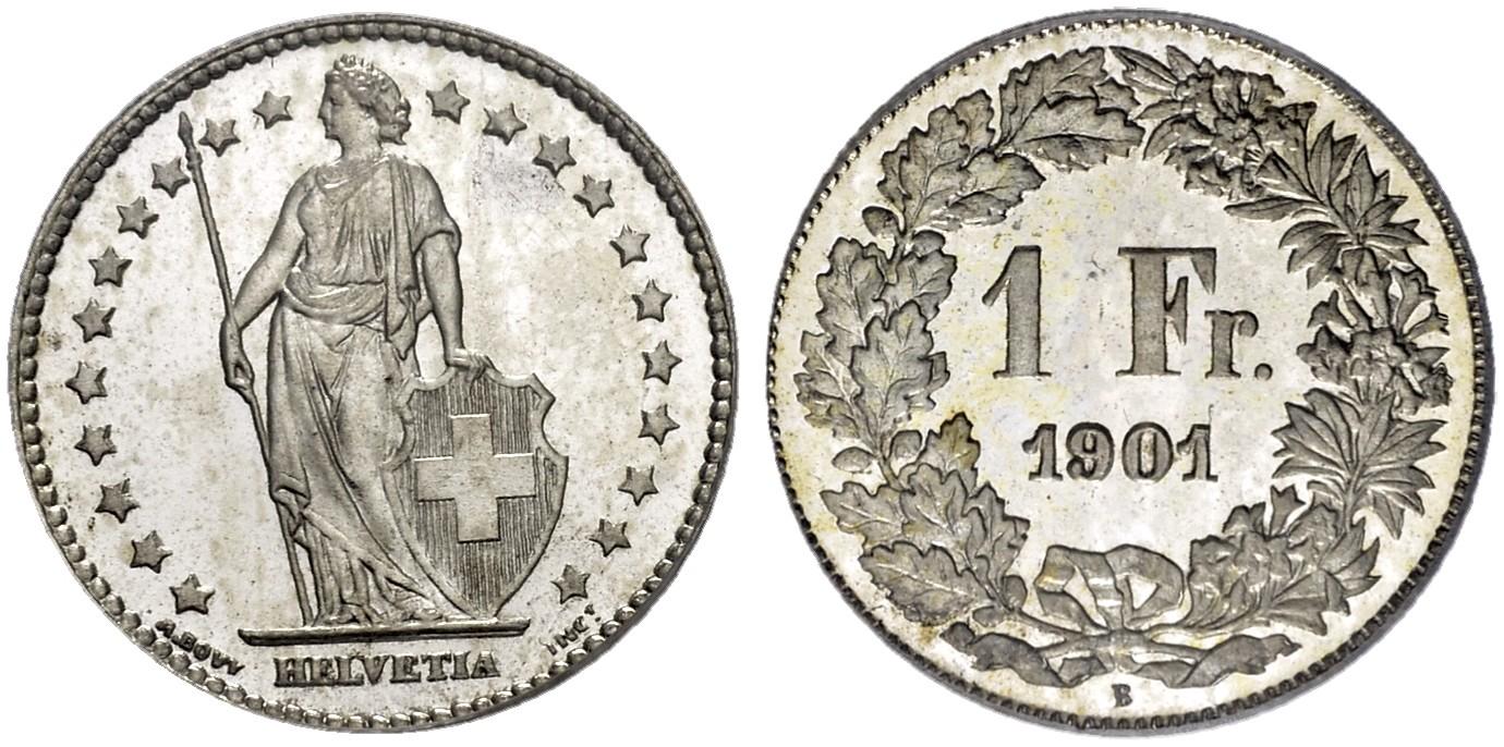CH 1 Franken 1901 B