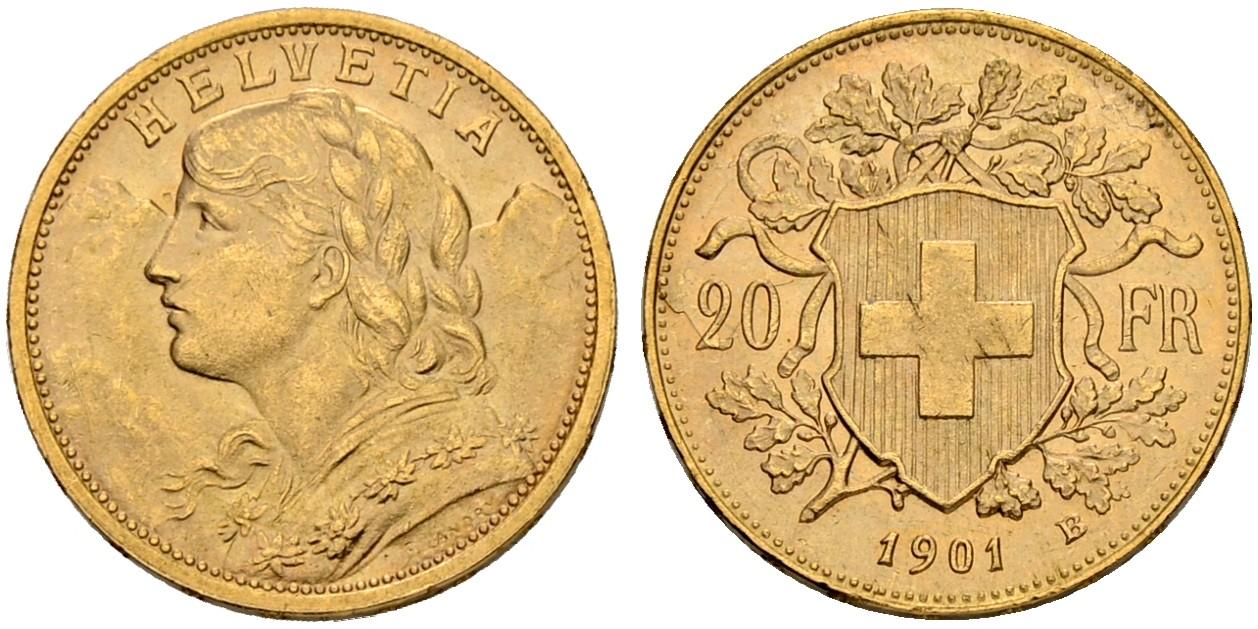 CH 20 Franken 1901 B