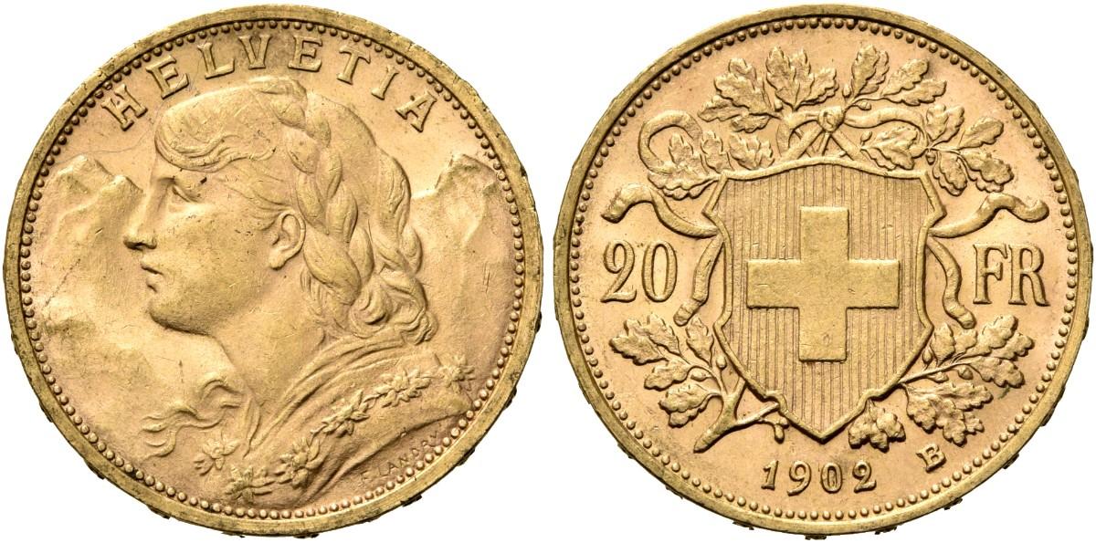 CH 20 Franken 1902 B