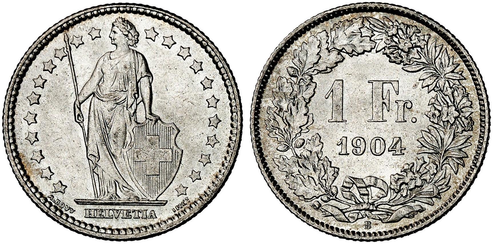 CH 1 Franken 1904 B