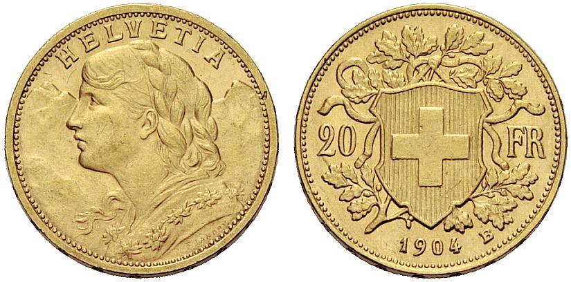 CH 20 Franken 1904 B