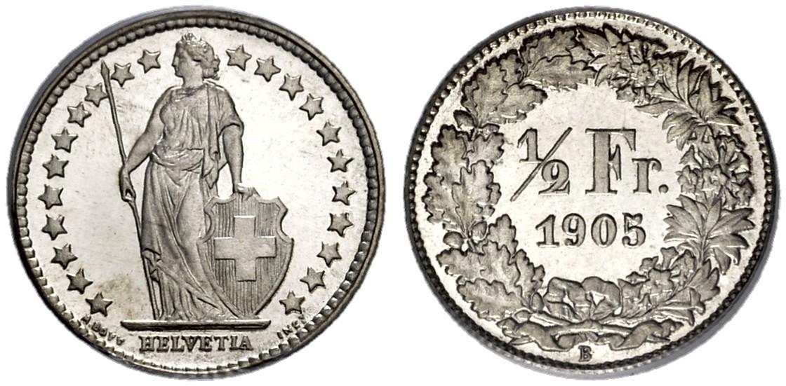 CH 1/2 Franken 1905 B