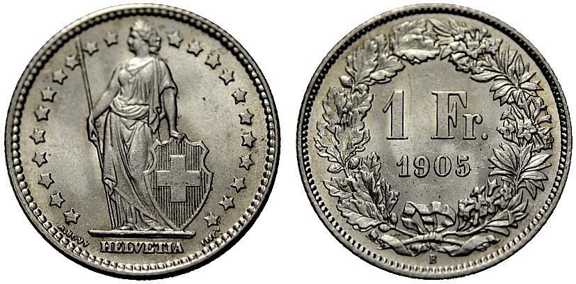 CH 1 Franken 1905 B