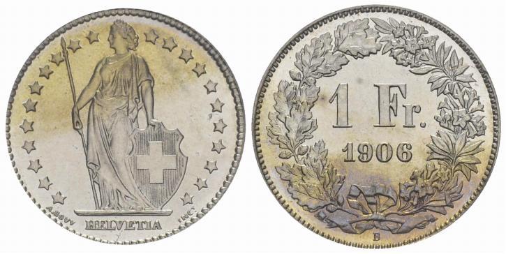 CH 1 Franken 1906 B