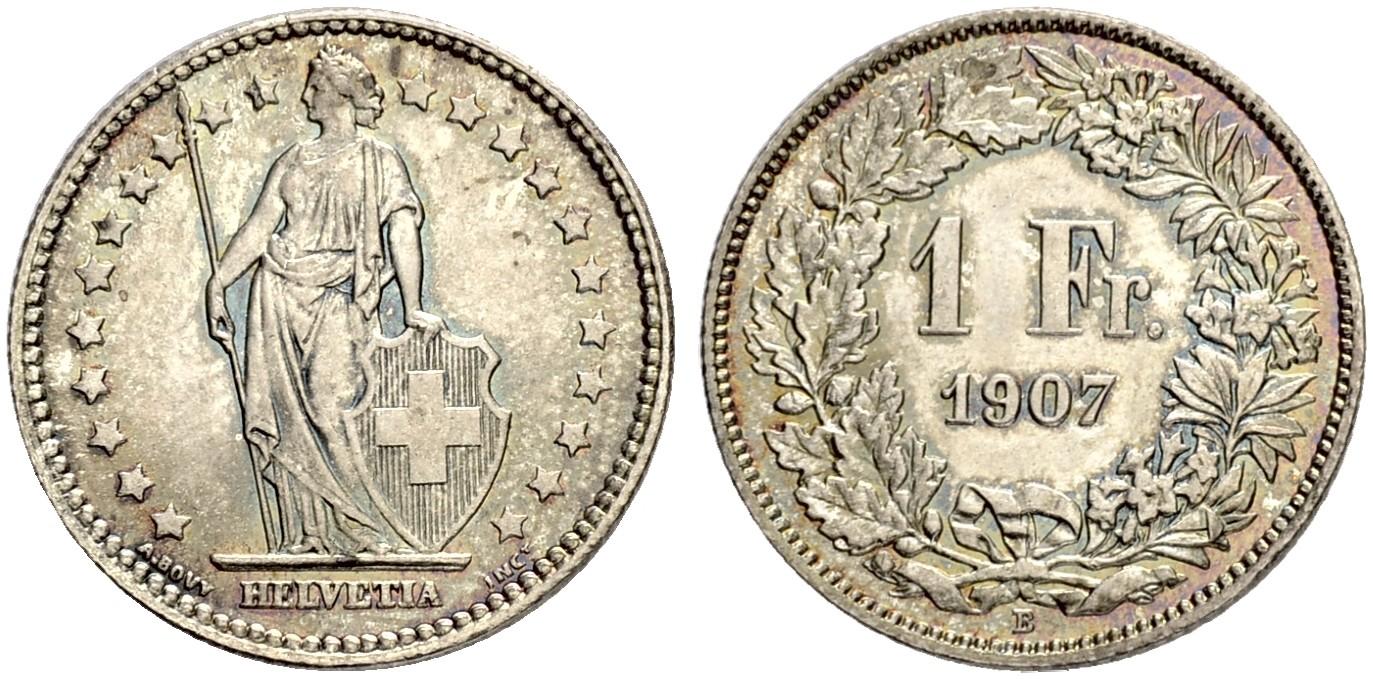 CH 1 Franken 1907 B